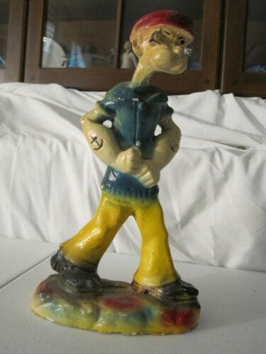 """vintage Popeye walking carnival chalk figure  11"""" tall"""