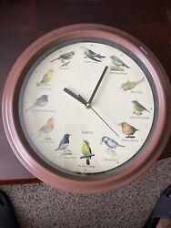 "National Audubon Society 13"" Hourly Singing Bird Quartz Wall Clock"