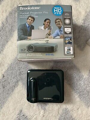 Brookstone Pocket Projector Pro 200 Lumen HD Projection (SLIGHTLY USED/OG BOX)