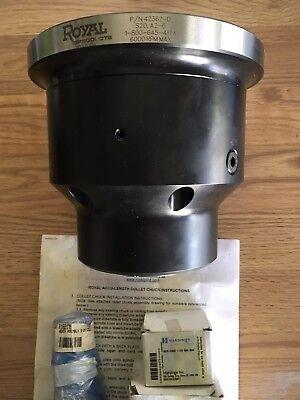 Royal Accu-length Cnc Lathe S20 Collet Chuck 42362 Spindle A2-6 Whardinge Pads