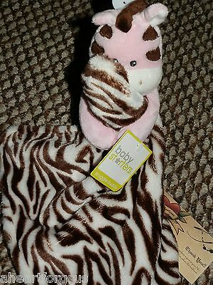 SECURITY BLANKET ZEBRA SNUGGLE BUDDY PINK BODY BABY STARTERS NEW RATTLE GIRL NWT A Baby Zebra Blankets