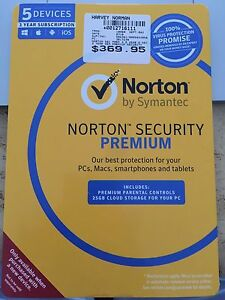 Norton Security Premium 3 Years and 5 Devices Wembley Downs Stirling Area Preview