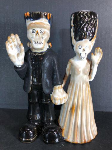 """Yankee Candle Boney Bunch Frankenstein Monster Bride Holder & Dreadful Drip 8"""""""