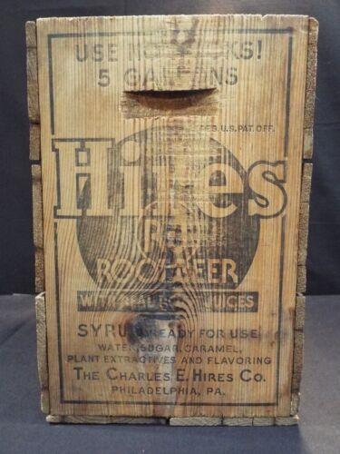 Vintage Hires Root Beer Syrup Crate