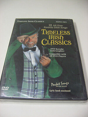 Timeless Irish Classics DVD Karaoke with Graphics 31 Songs With Lyric Book NEW ()