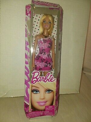 Mattel Special Style Barbie Doll pink white black dress strap. IN BAD BOX 2012