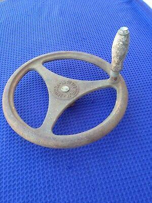 Vintage 12 Cast Iron Machine Handwheel Lockner Mfg. 58 Bore 316 Keyway