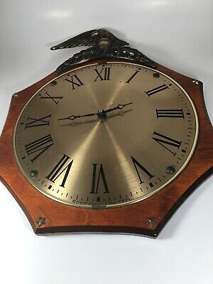 Vintage Sessions  American Eagle Wall Clock , Battery Operated Sep 73