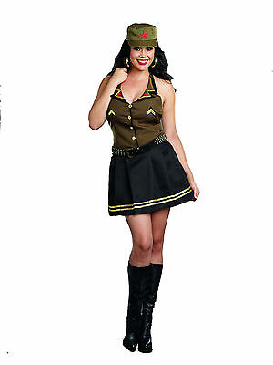 Sexy 4PC Women's Army Brat Military Halloween Costume. 3X/4X by Dreamgirl