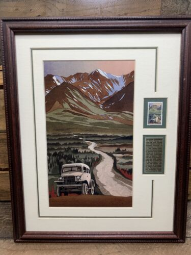 Byron Birdsall Commemorative Alaska Highway Stamp And Gicl e - $98.77