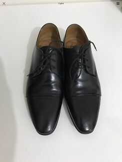 Formal Black Leather Aquila Shoes Size 39