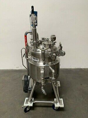 Precision 50 Liter Stainless Steel Jacketed Reactor 76 Psi