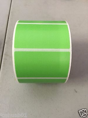 New 1 Roll 1000 Thermal Labels Green 2.25 X 1.25 Zebra 1 Core Direct Fba