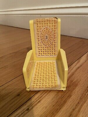 Vintage 1970 Barbie Yellow Swing LIVE ACTION HOUSE Lively Livin Furniture Mattel