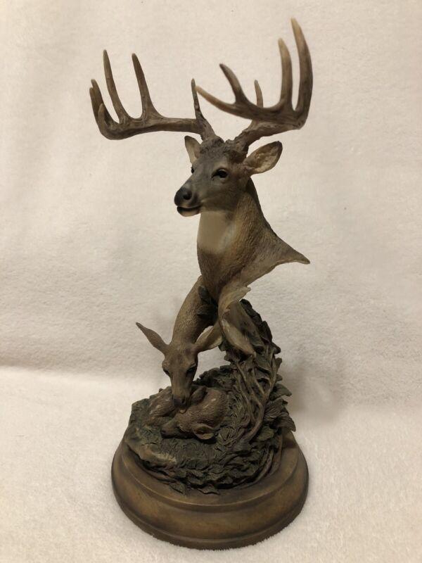 "Mill Creek Studios WHITETAIL DEER Sculpture ""Endearing Moment"" #3860"