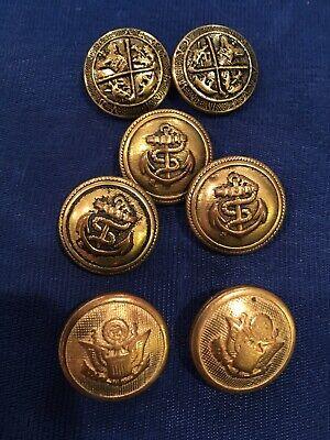 Antique Spanish American War Uniform Button Made in USA