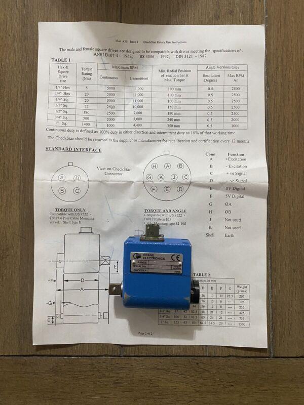 Crane Transducer CheckStar 75 NM Max