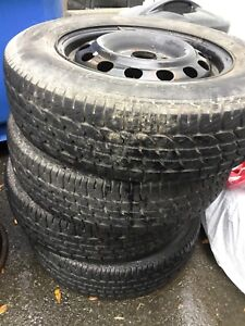 4 Winter Tires with Rims. 185/70/R14