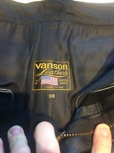 Vanson leather motorcycle pants