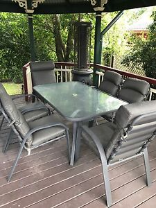 Six seater Outdoor dining setting with weather cover Sherwood Brisbane South West Preview