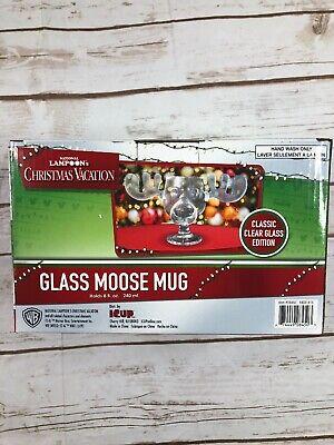 NATIONAL LAMPOON'S CHRISTMAS VACATION GLASS MOOSE MUG 8 OZ MUG CUP NEW ()