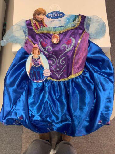 Disney Frozen Anna Dress Child Girls Costume Size 4-6 NEW