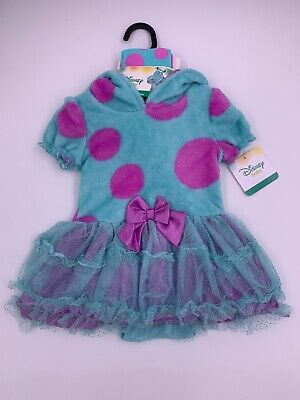 Baby Monsters Inc Costumes (Disney Store Baby Monsters INC Sully Halloween Costume Dress Tights 12-18)