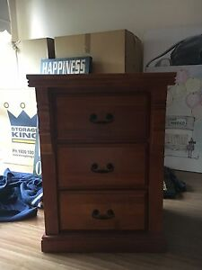 2 timber beside tables and chest of draws Shailer Park Logan Area Preview