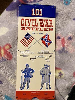 101 CIVIL WAR BATTLES Slide-A-Fact 1988 Robert Stephens Quick Reference Guide
