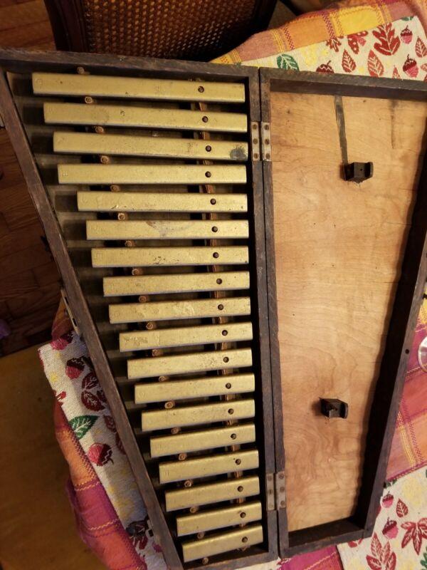 J.C. Deagan Orchestra Bells Vintage/Antique With Wooden Box
