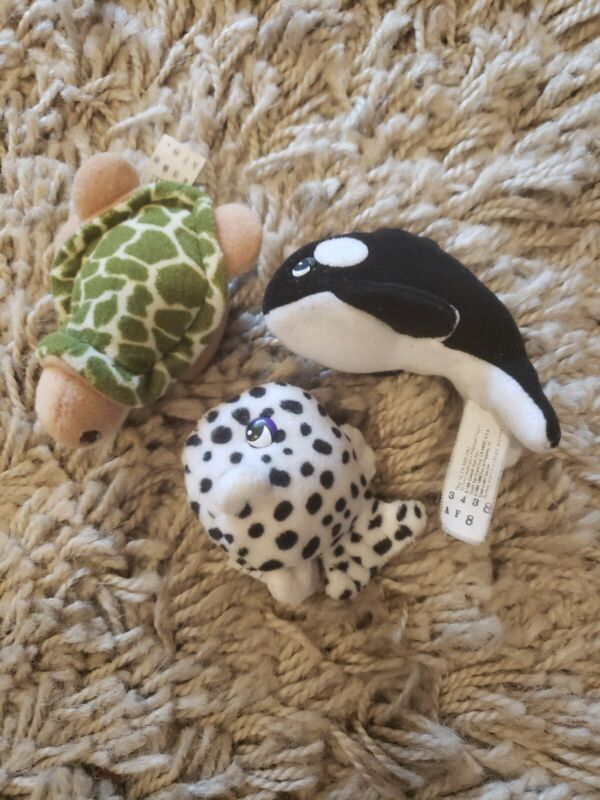 VTG POUND OCEAN by Galoob SEA TURTLE ORCA PUFFERFISH Pound Puppies