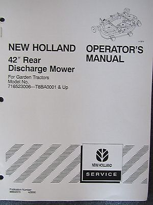 New Holland Operator's Manual for 42