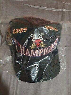 1997 Chicago Bulls Vintage NBA Champions LockerRoom Snapback Hat New Rare Jordan