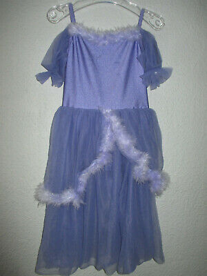 UPLINE Ballett Kostüm, Boddy/Kleid, Prinzessin, blau/lila, Gr. - Sportswear Kostüm