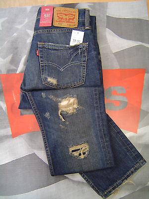 Mua levis mens slim fit low rise zip fly destructed jeans brook lawn giá rẻ