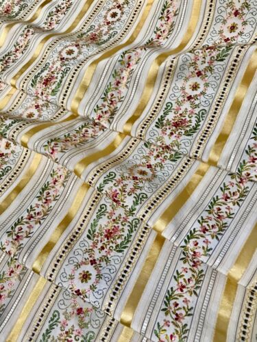 Antique  French Fabric  Flower Garlands