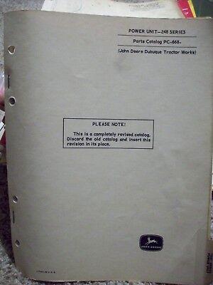 John Deere Parts Catalog 248 Series Power Unit Pc668