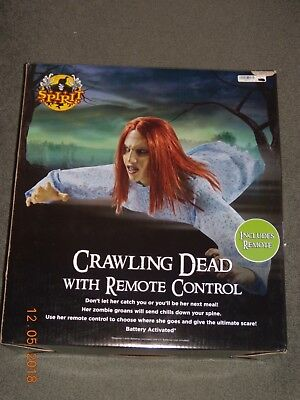 Remote Control Halloween Props (Spirit Halloween 3 Ft Crawling Dead Animatronics Zombie w/ Remote Control)