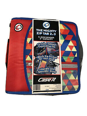 Case It The Mighty Zip Tab 2.0 Binder D-159-p 3 Rings 3 Inch Capacity New