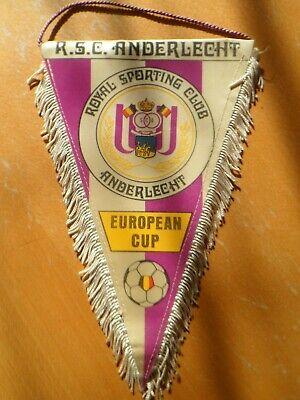 Fanion Football - R.S.C. ANDERLECHT - European Cup - VINTAGE - (25 cm x 16 cm)