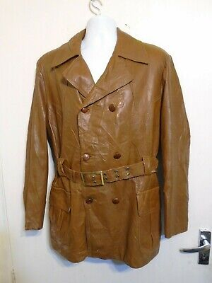 VINTAGE 70'S VINSON SWEDEN LEATHER SPORTS JACKET SIZE L