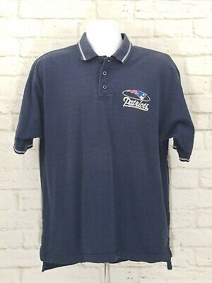 Majestic New England Patriots Mens Polo Shirt Size Large Blue NFL Football A18 for sale  Nashua