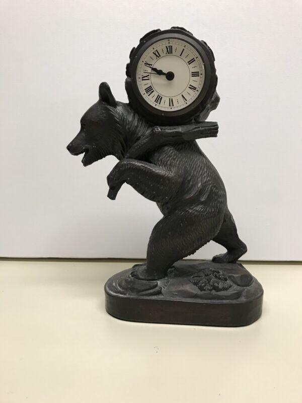Black Forest Bear Clock Adirondack Decor
