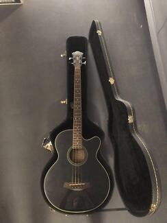 Ibanez Aeb8e Black Acoustic Bass Guitar