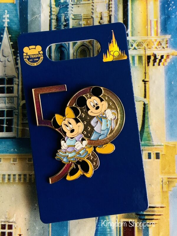 2021 Disney World 50th Anniversary Mickey & Minnie Mouse Pin New In Hand