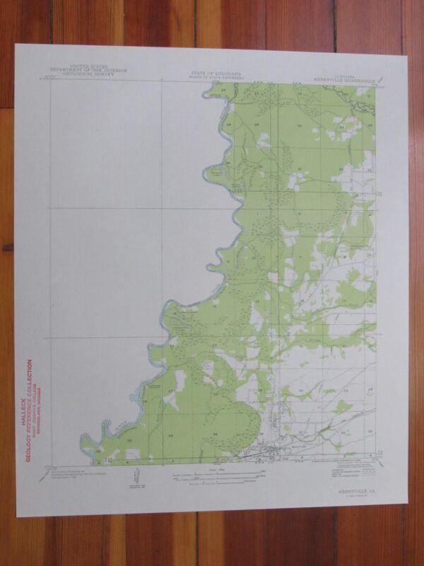 Merryville North Louisiana 1954 Original Vintage USGS Topo Map
