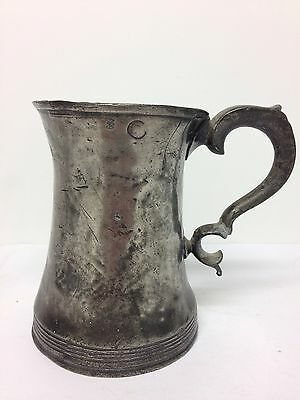 Antique Victorian Irish? Pewter Pint Tankard Tavern Pot