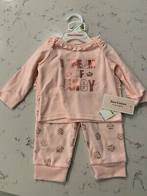 Juicy Couture Baby Girls' 2 Pieces Tunic Legging Set Size 3/6 month