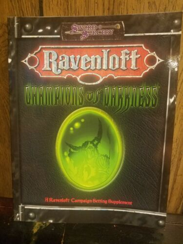 Ravenloft Champions of Darkness book Campaign Setting softcover Sword & Sorcery