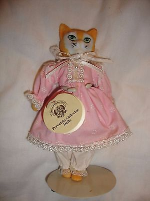 House of global art cat doll with stand
